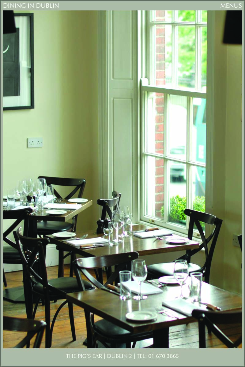 The pig 39 s ear dining in dublin magazine for Best private dining rooms dublin